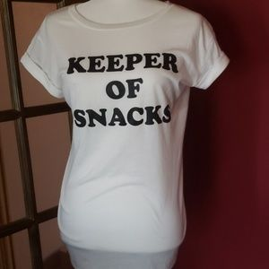 Caslon t shirt keeper of snacks new without tags